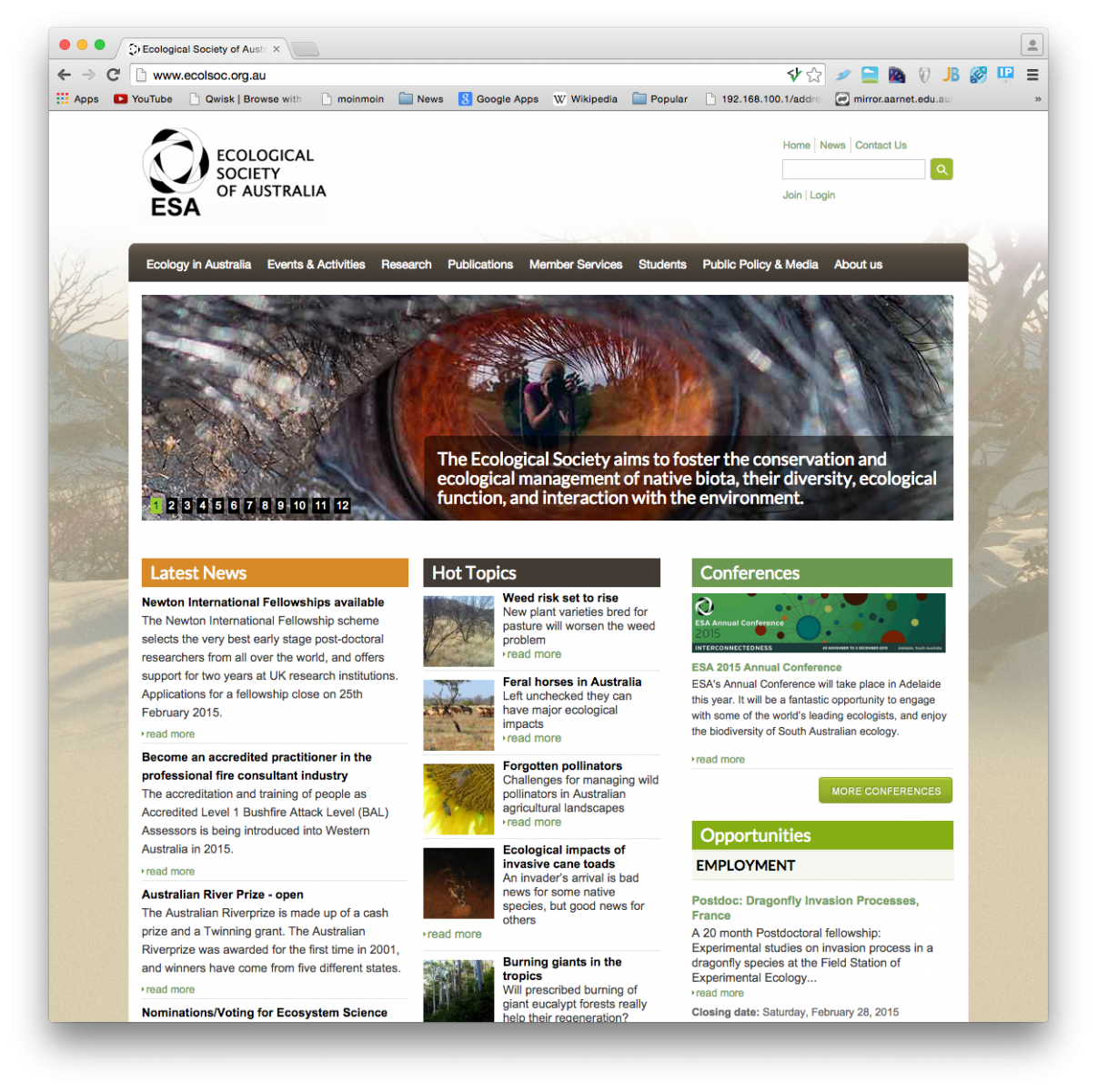 Ecological Society Homepage
