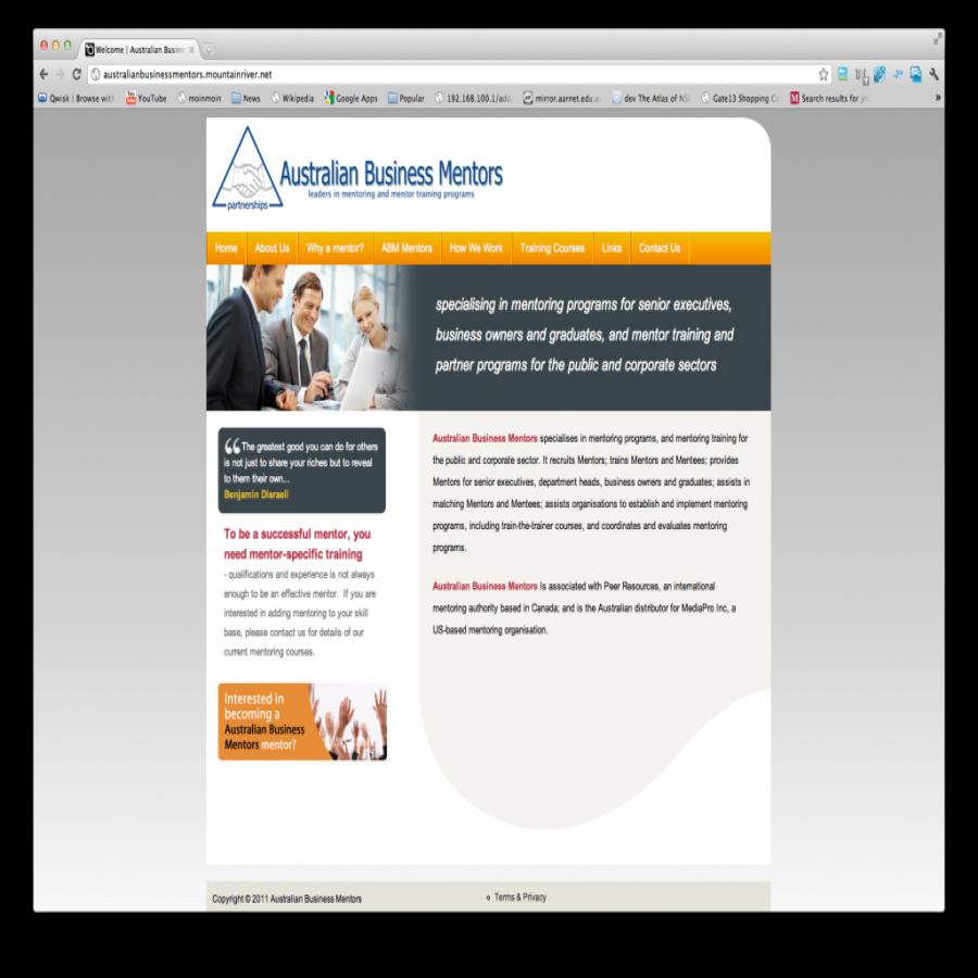 Australian Business Mentors screen grab