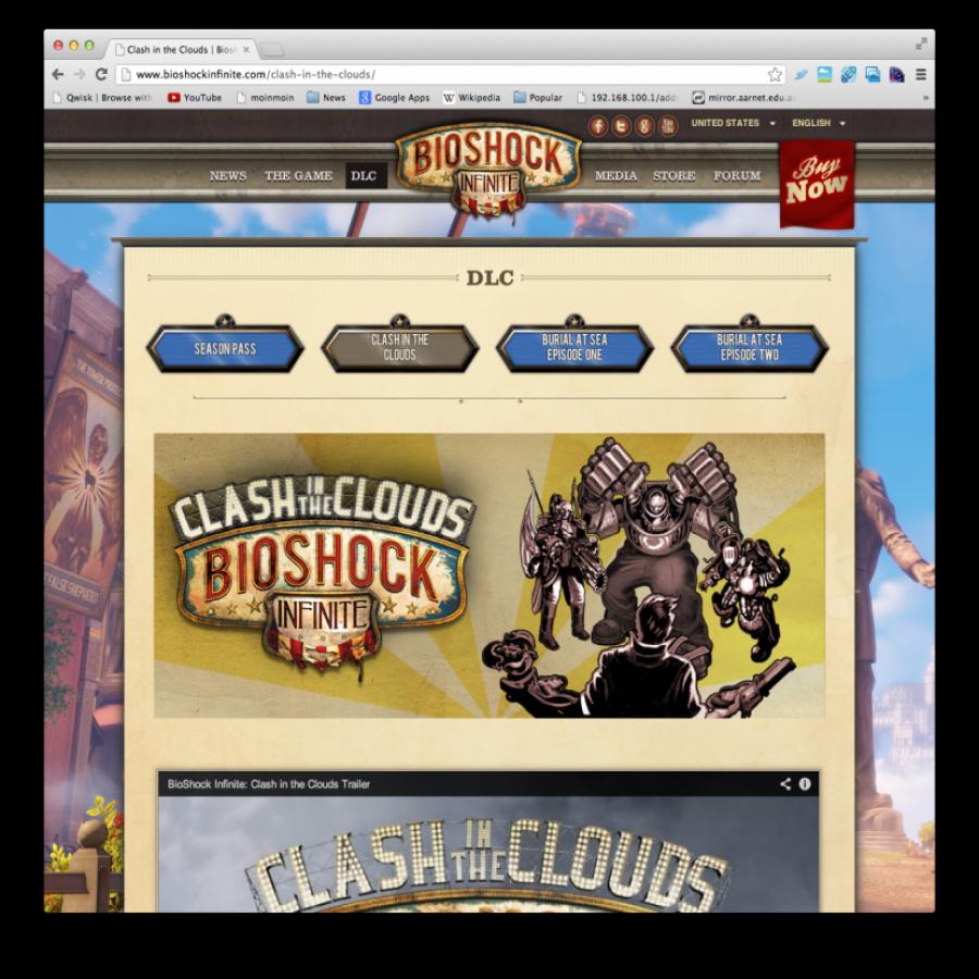 Bioshock Infinite downloadable content screen grab