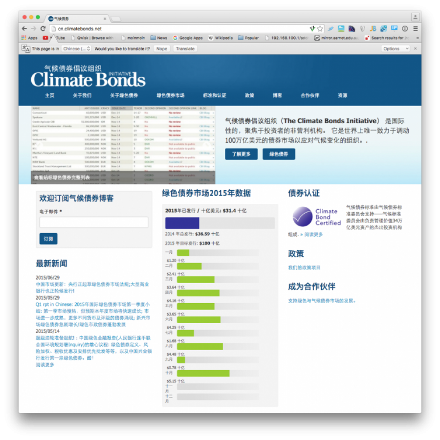 Chinese Climate Bonds site