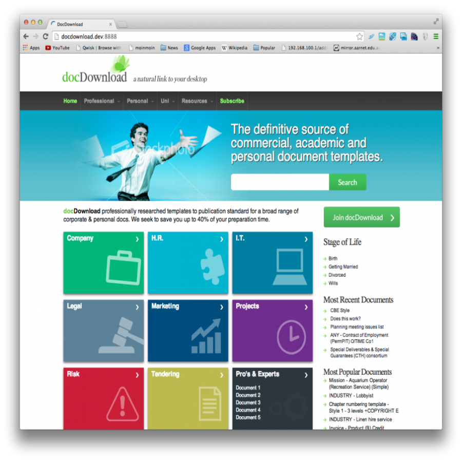 Docdownload Home Page