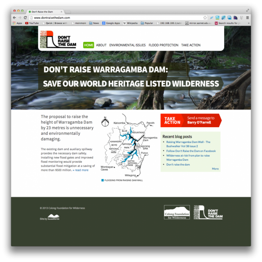 Don't Raise Warragamba Dam