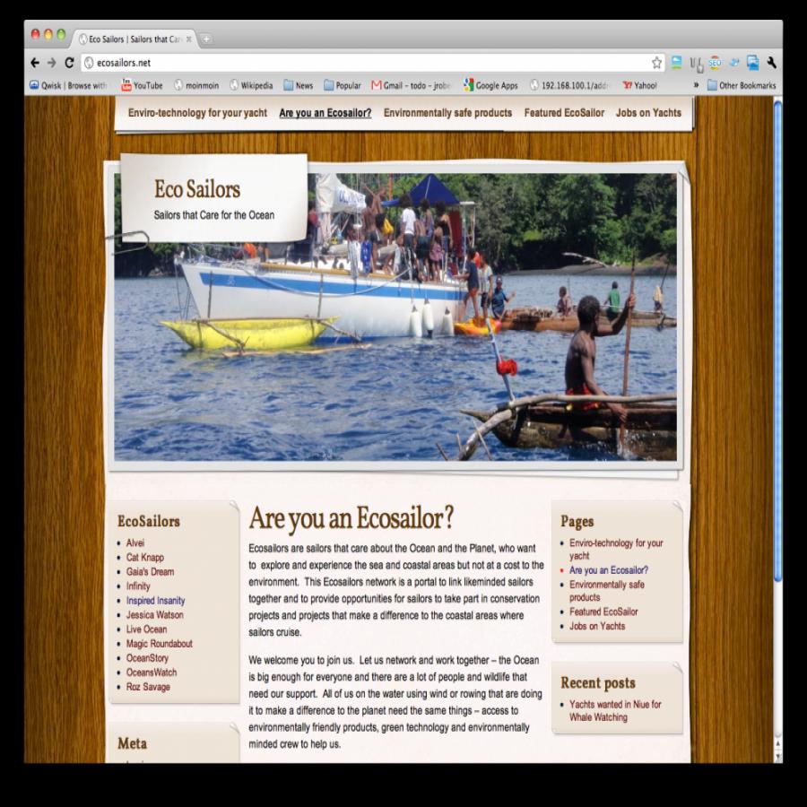 Eco Sailers screen grab