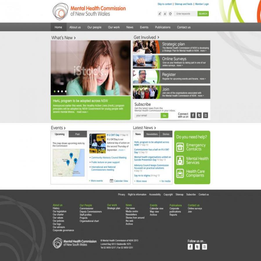 MHC Homepage Design