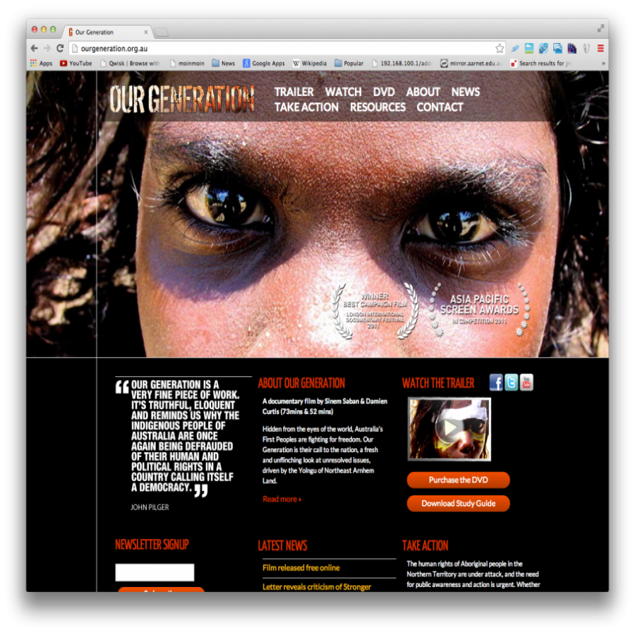 Our Generation Home Page - Face