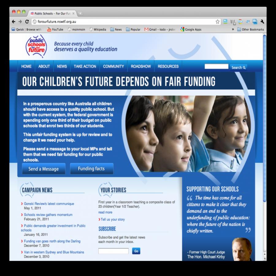 Our Public Schools screen grab